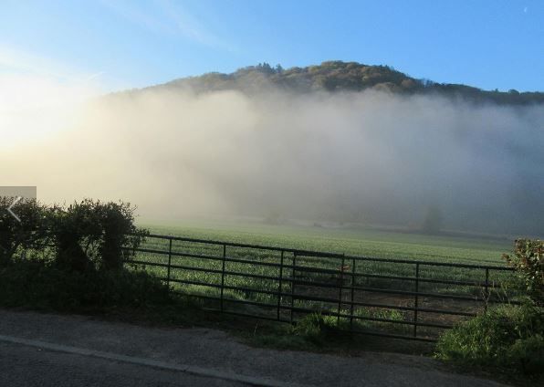 Great shot from Shell. Early mist on the Brevet Cymru 400K